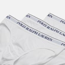 Комплект мужских трусов Polo Ralph Lauren Low Rise 3-Pack White фото- 1