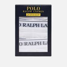 Комплект мужских трусов Polo Ralph Lauren Low Rise 3-Pack White фото- 3