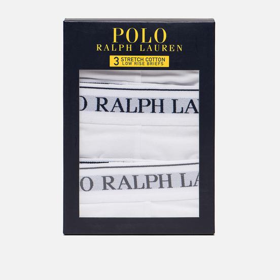 Комплект мужских трусов Polo Ralph Lauren Low Rise 3-Pack White