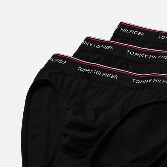 Комплект мужских трусов Tommy Hilfiger Underwear 3-Pack Branded Cotton Knickers Black