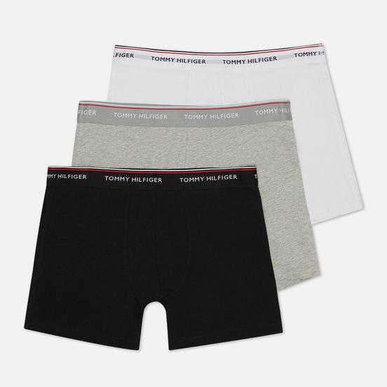Комплект мужских трусов Tommy Hilfiger Underwear 3-Pack Stretch Cotton Boxer Grey Heather