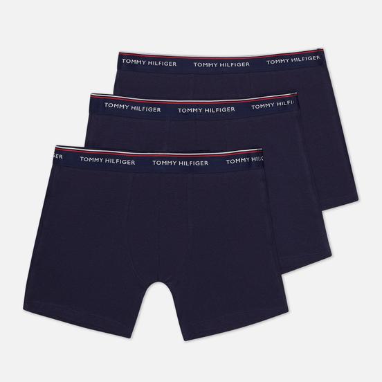 Комплект мужских трусов Tommy Hilfiger Underwear 3-Pack Stretch Cotton Boxer Peacoat