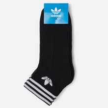 Комплект носков adidas Originals 3-Pack Trefoil Ankle Black/White фото- 1