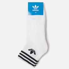 Комплект носков adidas Originals 3-Pack Trefoil Ankle White/Black фото- 1