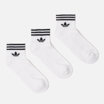 Комплект носков adidas Originals 3-Pack Trefoil Ankle White/Black фото- 0