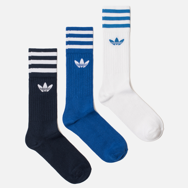 Комплект носков adidas Originals 3-Pack Solid Crew Collegiate Navy/Collegiate Royal/White