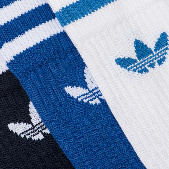 Комплект носков adidas Originals 3-Pack Solid Crew Collegiate Navy/Collegiate Royal/White