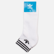 Комплект носков adidas Originals Trefoil Ankle 3 Pairs White фото- 1