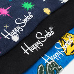Комплект носков Happy Socks BBC 3 Pack Black/Blue/Green/Red/White/Yellow фото- 2