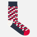 Комплект носков Happy Socks Big Dot Blue/Red/White фото- 4