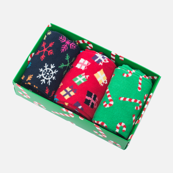Комплект носков Happy Socks Holiday 3 Pack Red/Green/Navy