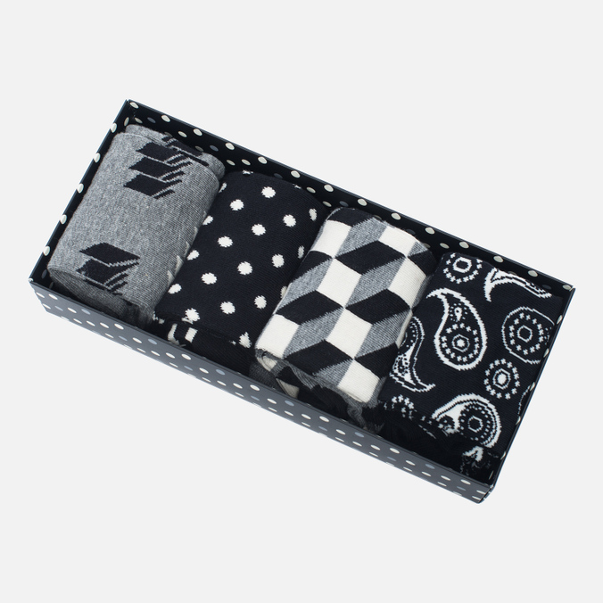 Комплект носков Happy Socks Optic Black/Grey/White