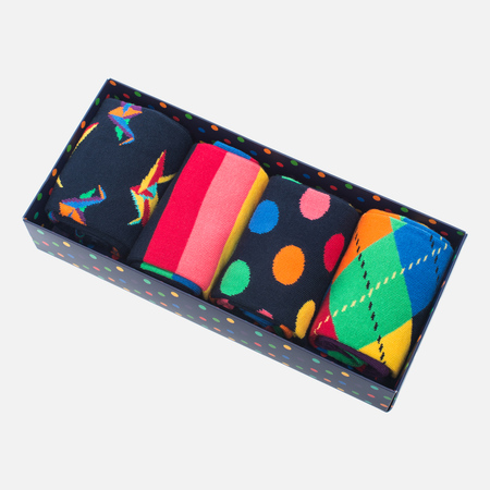 Happy Socks Origami Socks Box Blue/Green/Orange/Turquoise/Yellow