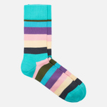 Комплект носков Happy Socks Stripe Blue/Brown/Green/Pink/Purple/Turquoise фото- 4