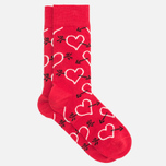 Комплект носков Happy Socks Valentines Day Red/Black фото- 1