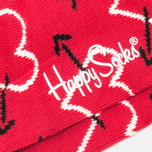 Комплект носков Happy Socks Valentines Day Red/Black фото- 2