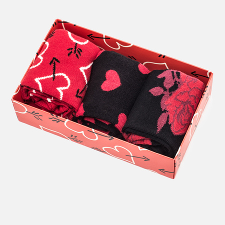 Happy Socks Valentines Day Socks Box Red/Black