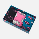 Комплект носков Happy Socks x Mr Andre 3 Pack Limited Edition Black/Blue/Pink/White фото- 0