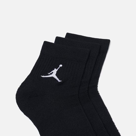 Комплект носков Jordan Jumpman Everyday Max Ankle 3-Pack Black/Black/Black