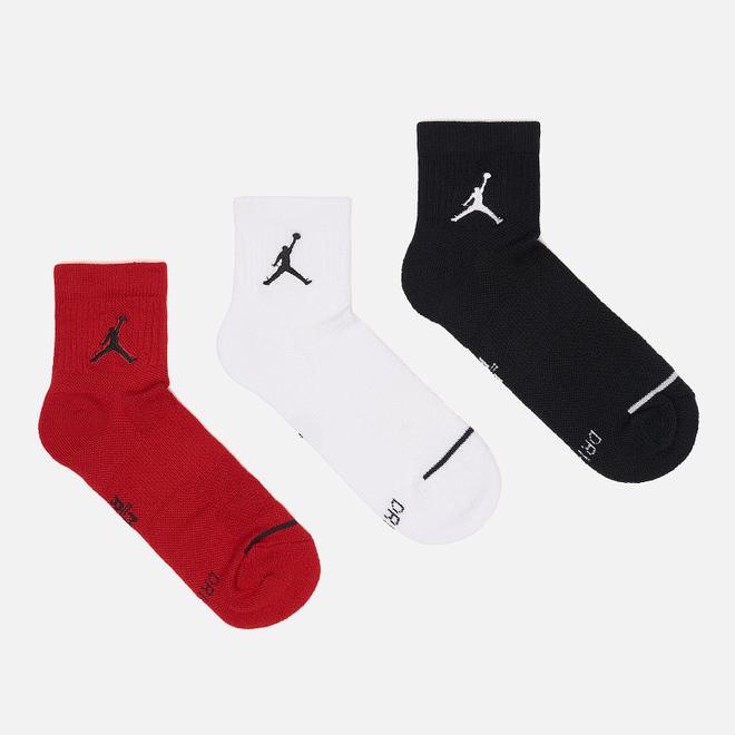 Комплект носков Jordan Jumpman Everyday Max Ankle 3-Pack Black/White/Gym Red