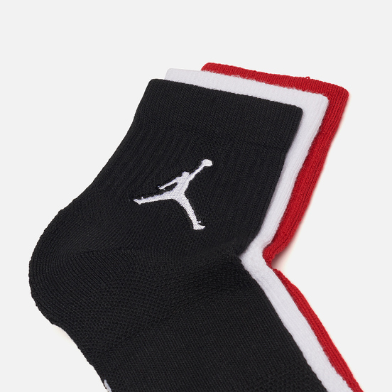 Комплект носков Jordan Jumpman Everyday Max Ankle 3-Pack Black/White/Gym Red