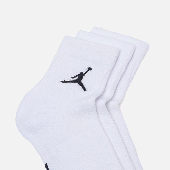 Комплект носков Jordan Jumpman Everyday Max Ankle 3-Pack White/White/White/Black