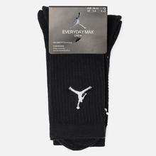 Комплект носков Jordan Jumpman Everyday Max Crew 3-Pack Black/Black/Black фото- 1