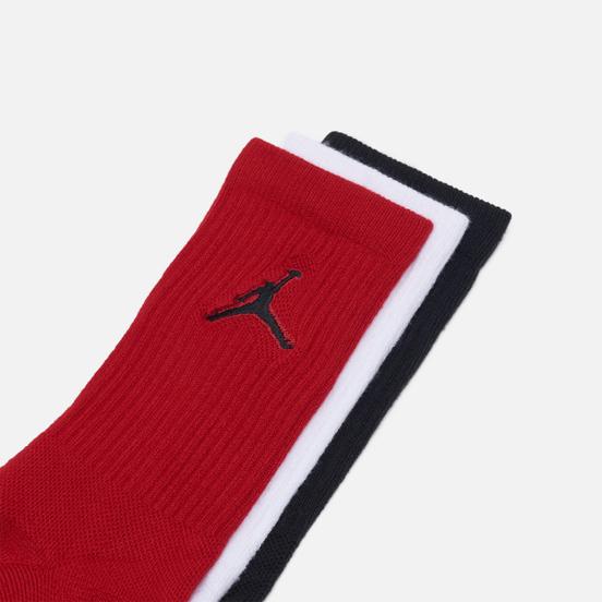 Комплект носков Jordan Jumpman Everyday Max Crew 3-Pack Black/White/Gym Red