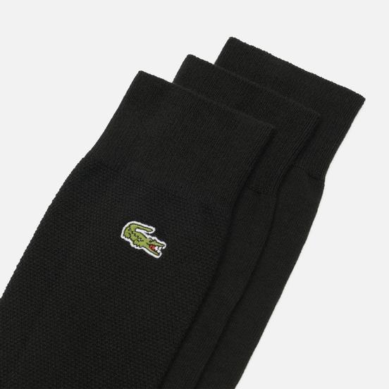 Комплект носков Lacoste 3-Pack Blend Embroidered Black/Green