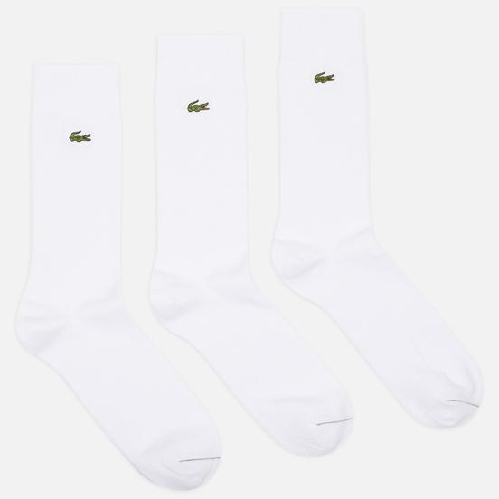 Комплект носков Lacoste 3-Pack Blend Embroidered White/Green