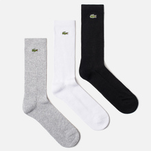Комплект носков Lacoste 3-Pack Sport High Grey Chine/White/Black фото- 0