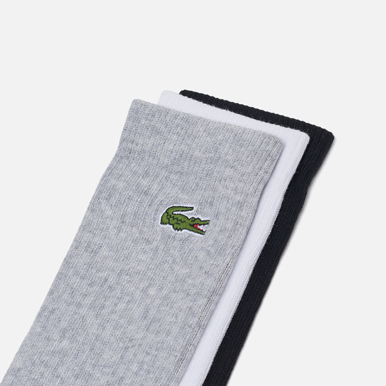 Комплект носков Lacoste 3-Pack Sport High Grey Chine/White/Black