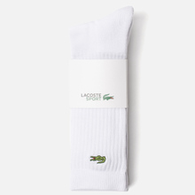 Комплект носков Lacoste 3-Pack Sport High White/White/White фото- 1