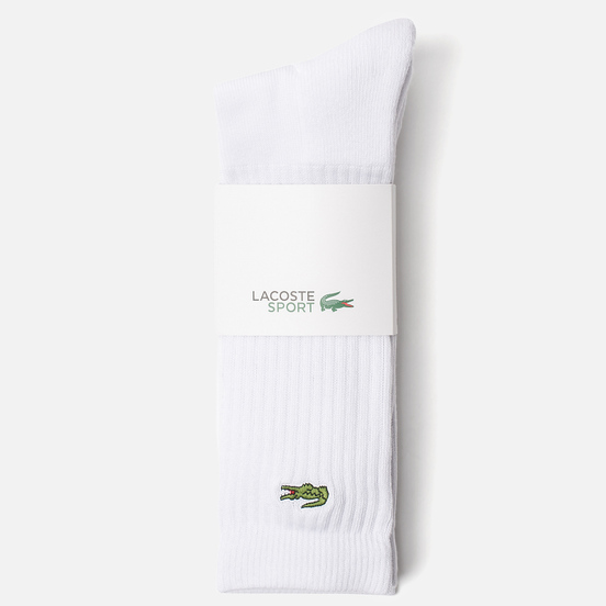 Комплект носков Lacoste 3-Pack Sport High White/White/White