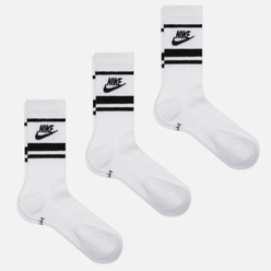 Комплект носков Nike 3-Pack Essential Stripe White/Black/Black