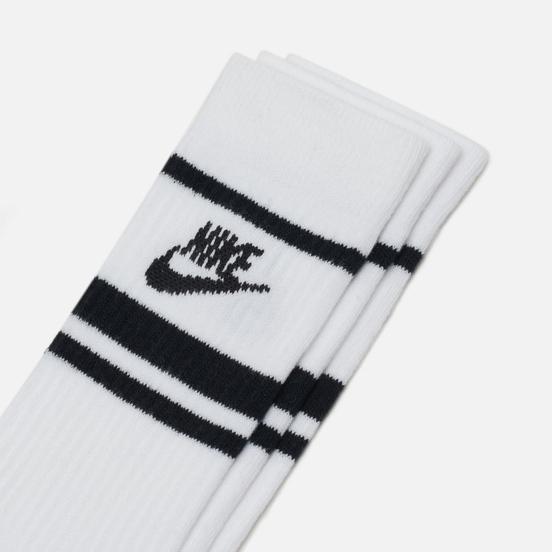 Комплект носков Nike 3-Pack Essential Stripe White/Black/Black