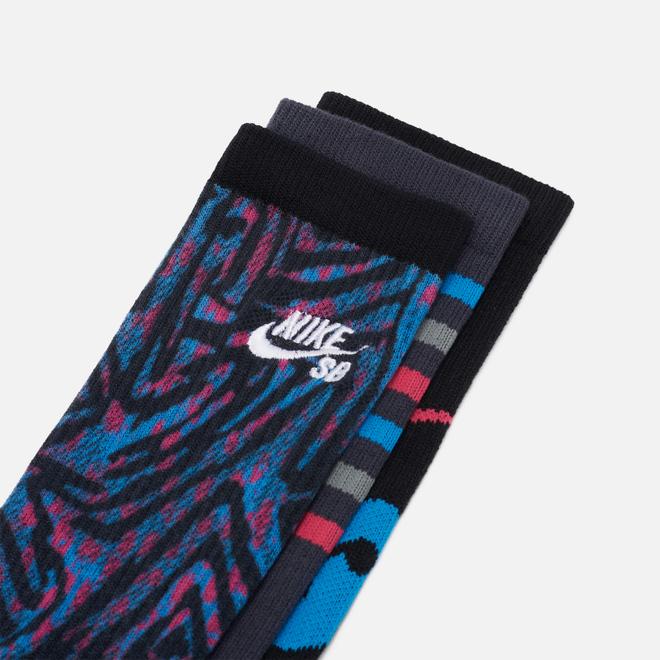 Комплект носков Nike SB 3-Pack Everyday Max Lightweight Crew Black Multi-Color