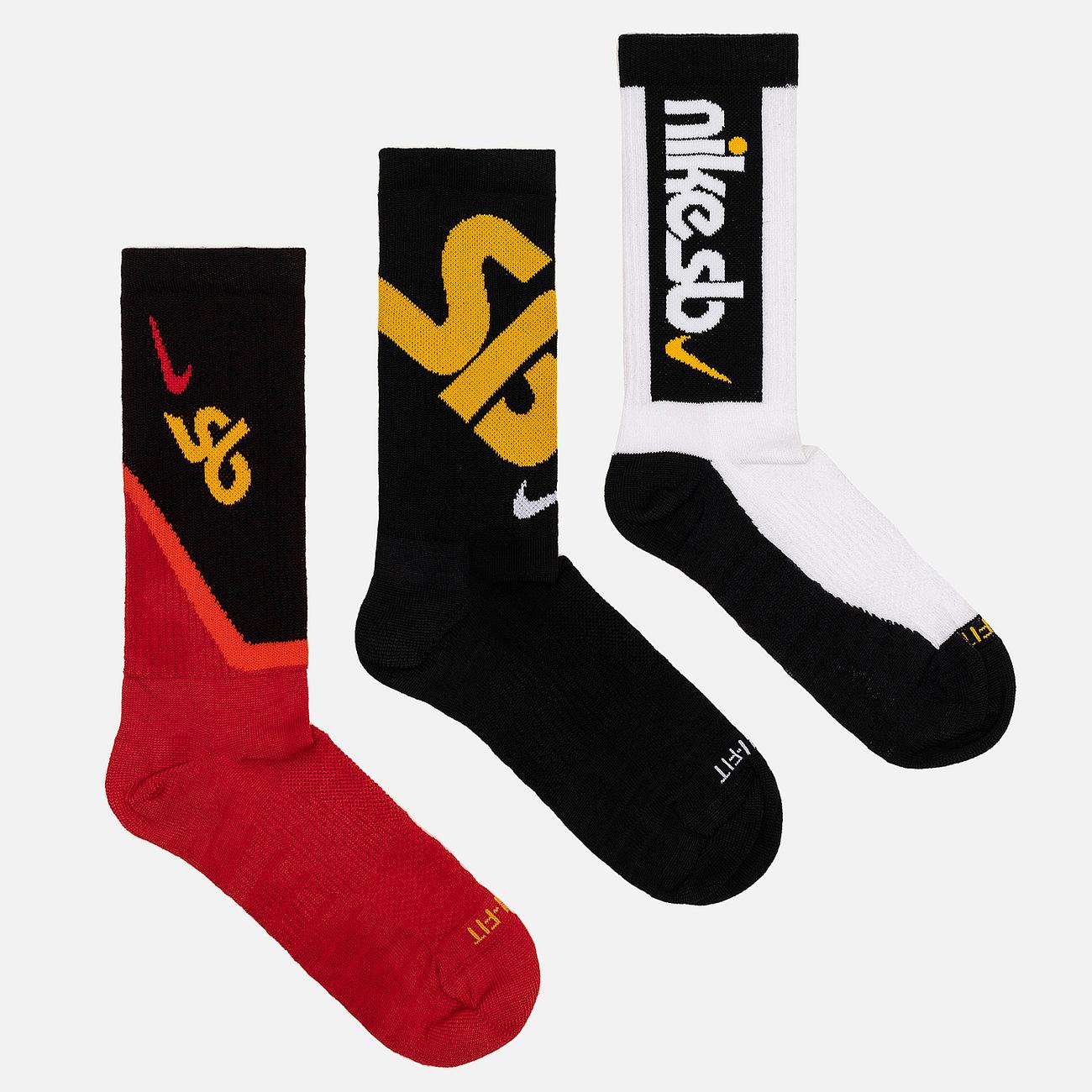 Комплект носков Nike SB 3-Pack Everyday Max Lightweight Crew Multi-Color