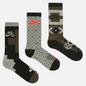 Комплект носков Nike SB 3-Pack Everyday Max Lightweight Crew Olive Multi-Color фото - 0