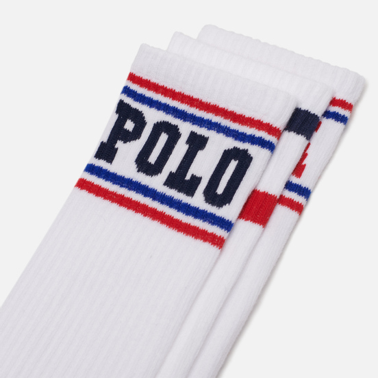 Комплект носков Polo Ralph Lauren Athletic Crew 3-Pack White/Navy/Red/Royal