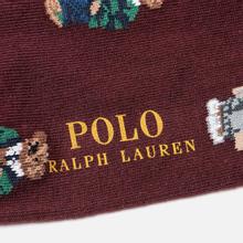Комплект носков Polo Ralph Lauren Bear Quad And Polo Poly Crew 2-Pack Classic Wine/Cruise Navy/Foster Grey фото- 2
