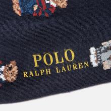 Комплект носков Polo Ralph Lauren Bear Quad And Polo Poly Crew 2-Pack Cruise Navy/Foster Grey/Navy фото- 2