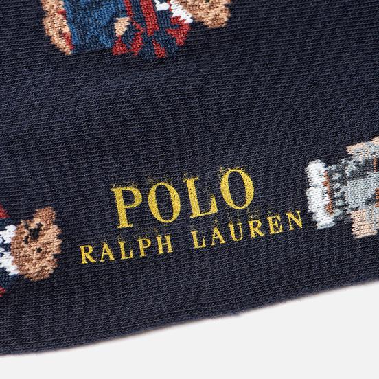 Комплект носков Polo Ralph Lauren Bear Quad And Polo Poly Crew 2-Pack Cruise Navy/Foster Grey/Navy