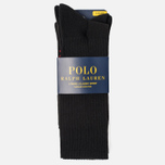 Комплект носков Polo Ralph Lauren Big Pony 3-Pack Black фото- 1