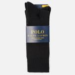 Комплект носков Polo Ralph Lauren Big Pony 3-Pack Black фото- 0