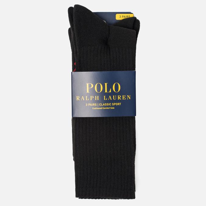 Комплект носков Polo Ralph Lauren Big Pony 3-Pack Black