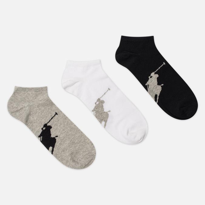 Комплект носков Polo Ralph Lauren Big Pony 3-Pack Black Assorted
