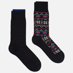 Комплект носков Polo Ralph Lauren Fair Isle Crew 2-Pack Black