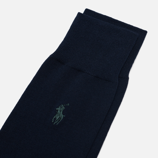 Комплект носков Polo Ralph Lauren Mercerized Cotton Sized Flat Crew 2-Pack Admiral Blue