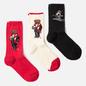 Комплект носков Polo Ralph Lauren Ski Bear And Holiday Bear Gift Box 3-Pack Black/Ivory/Red фото - 0